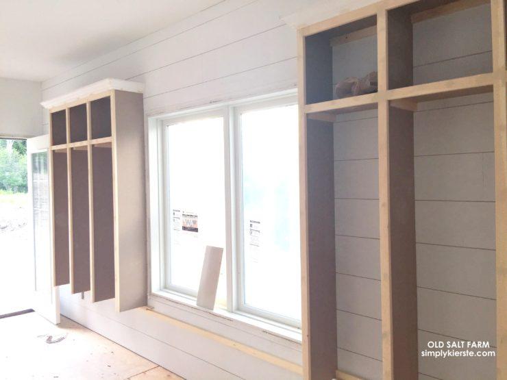 Building Old Salt Farm: Month Three Update |Shiplap Mudroom Lockers| simplykierste.com