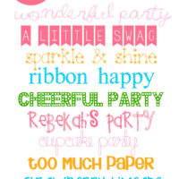 10 Fun Birthday Fonts!