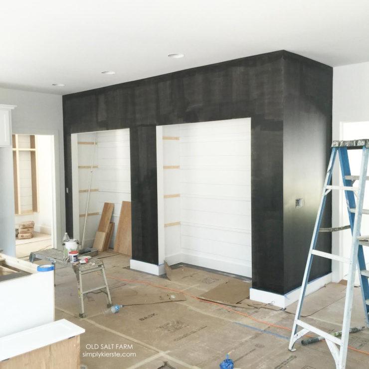 Building Old Salt Farm | Chalkboard Kitchen Wall | oldsaltfarm.com