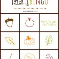 Fall Thanksgiving Bingo