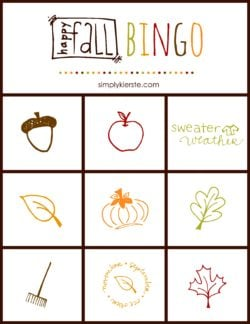 Fall Bingo Game | simplykierste.com