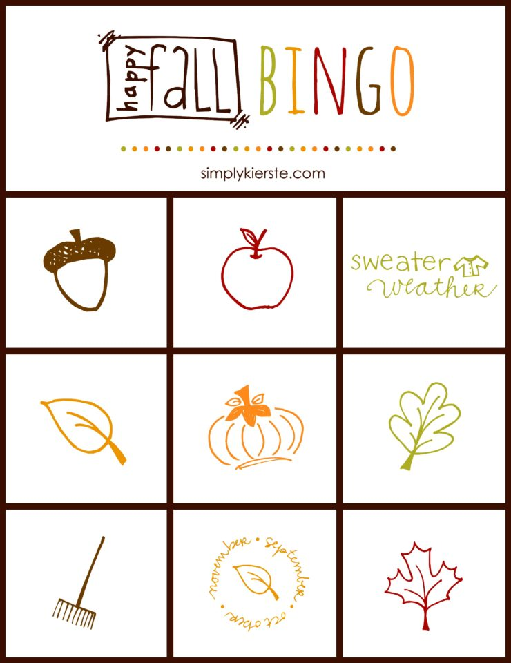 Fall Bingo Game | oldsaltfarm.com