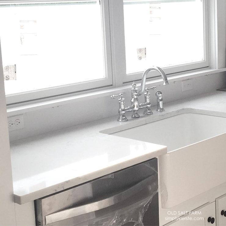 Building Old Salt Farm |Moen Vintage Kitchen Faucet | simplykierste.com