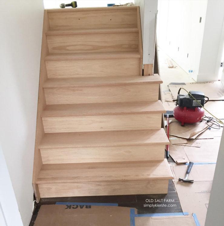 Building Old Salt Farm |Open Riser Stairs | oldsaltfarm.com