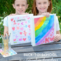 Back-to-School Watercolor Binder Covers