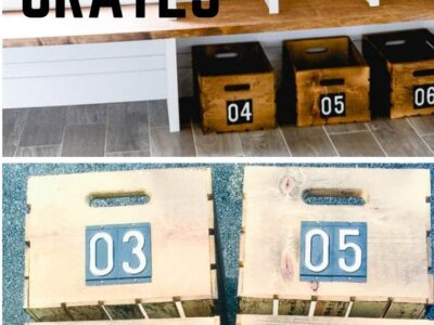 Easy DIY Numbered Crates