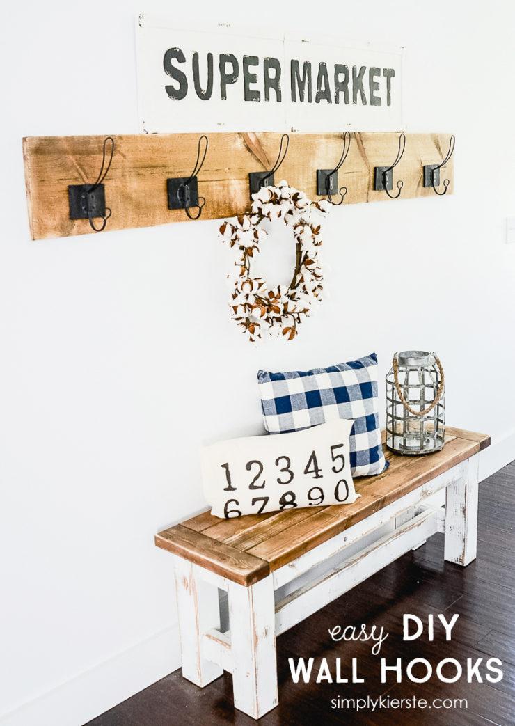 Easy DIY Wall Hooks | simplykierste.com