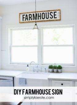DIY Framed Wood Farmhouse Sign | simplykierste.com