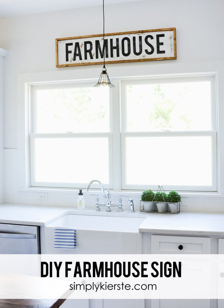 DIY Framed Wood Farmhouse Sign | simplykierste.com