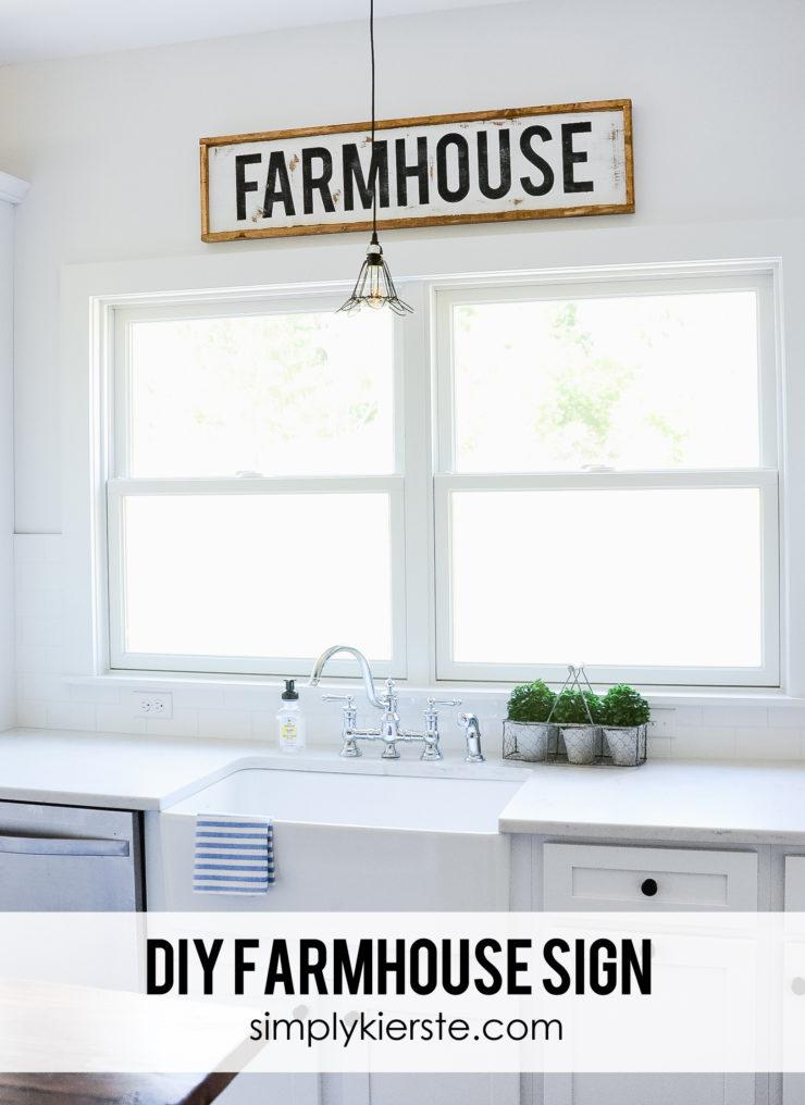 DIY Framed Wood Farmhouse Sign | oldsaltfarm.com