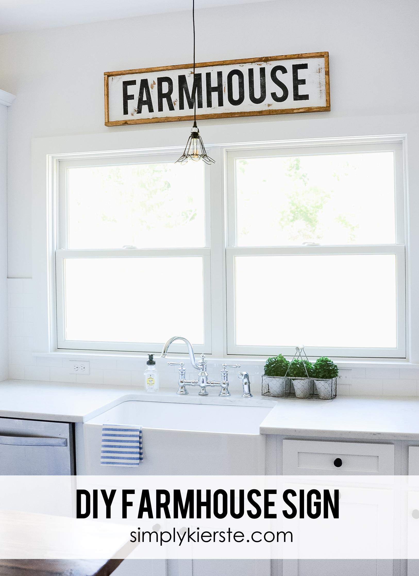 Diy Framed Wood Farmhouse Sign Simply Kierste Design Co