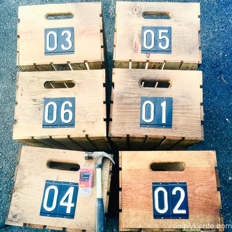 Easy Numbered Crates | oldsaltfarm.com