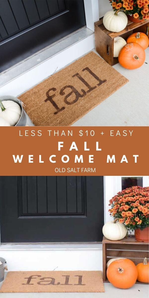 Easy DIY Fall Welcome Mat