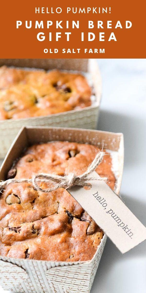 Pumpkin Bread Gift Idea for Fall