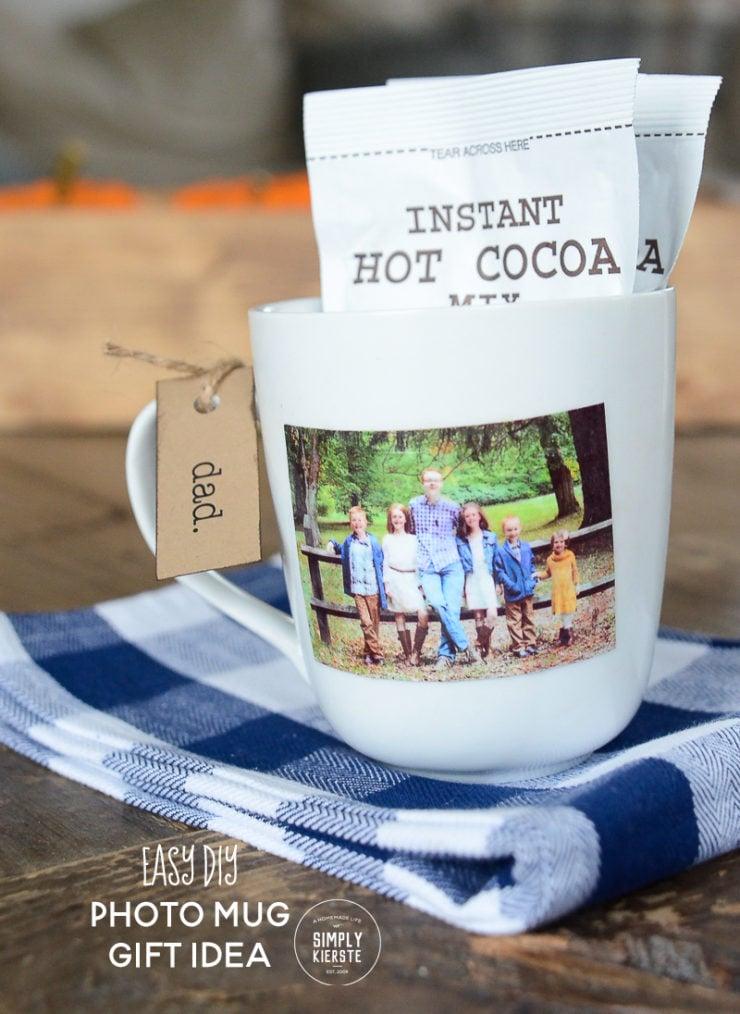 Easy DIY Photo Mug Gift Idea | simply kierste.com