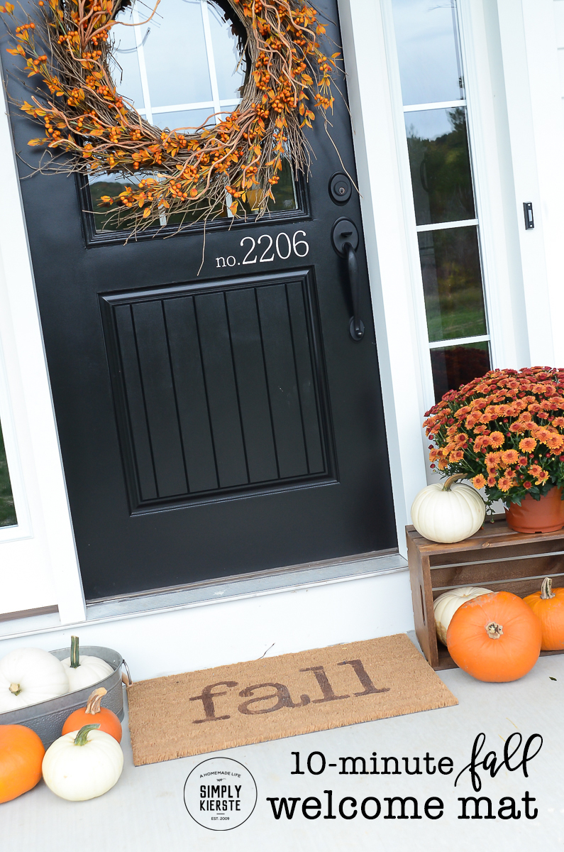 Easy 10-minute Fall Welcome Mat