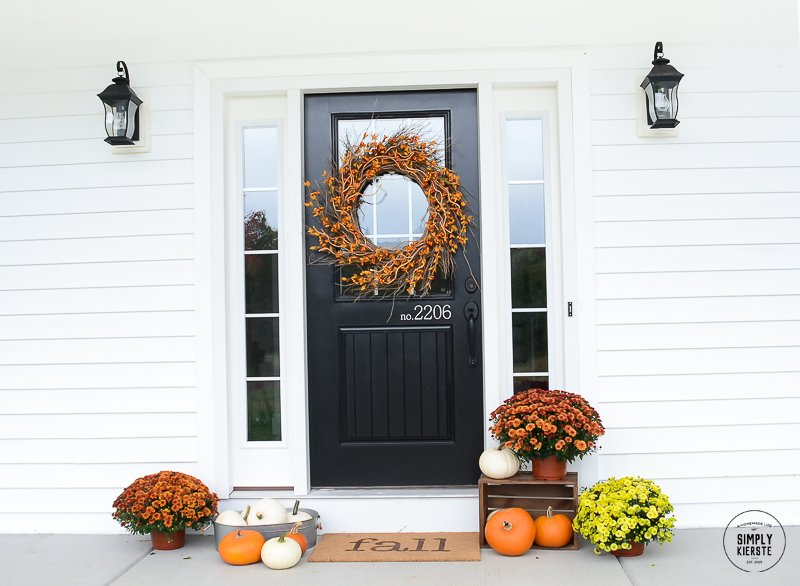Easy 10 Minute Fall Welcome Mat Simply Kierste Design Co