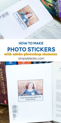 How to Make Photo Stickers with Adobe Photoshop Elements | simplykierste.com