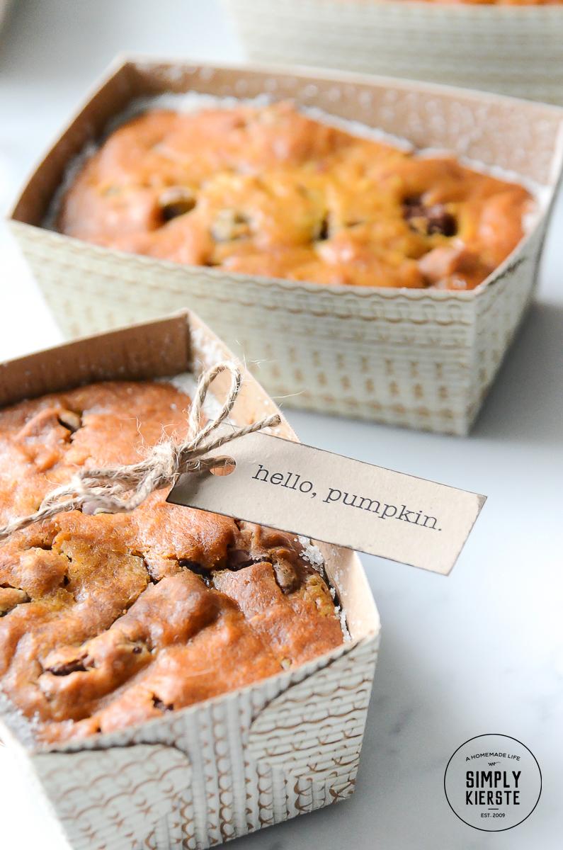 Pumpkin Bread Fall Gift Idea