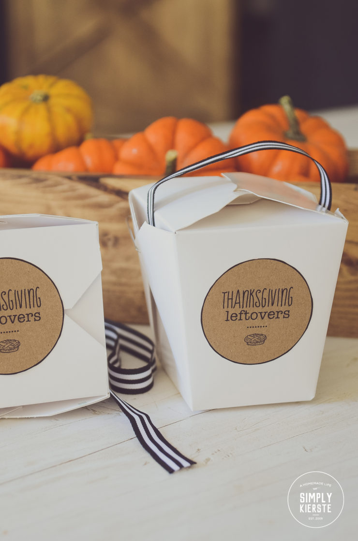 Thanksgiving Leftover Printable Tags | simply kierste.com