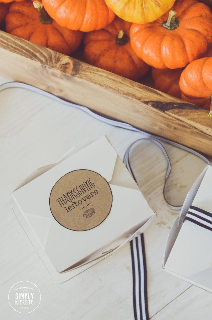 Thanksgiving Leftover Printable Tags | simply kierste.com
