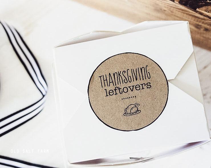 Thanksgiving Leftovers Printable Tag