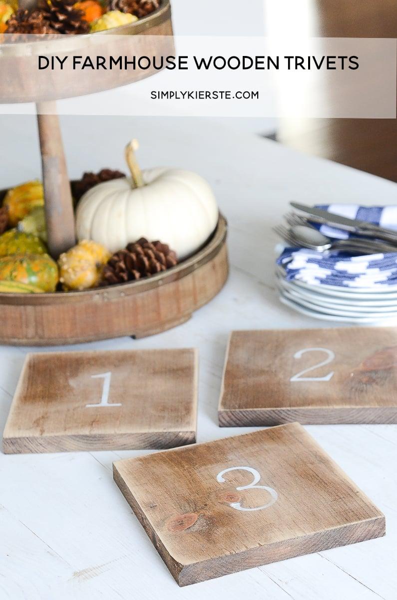 DIY Farmhouse Wooden Trivets