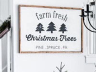 DIY Farm Fresh Christmas Trees Sign