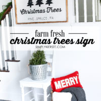 Farm Fresh Christmas Trees Sign + Free Cut File