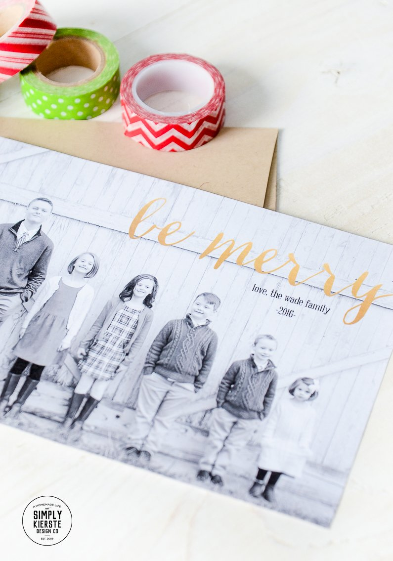 how to make your own christmas card in 10 minutes or less simply kierste - Make Your Own Card