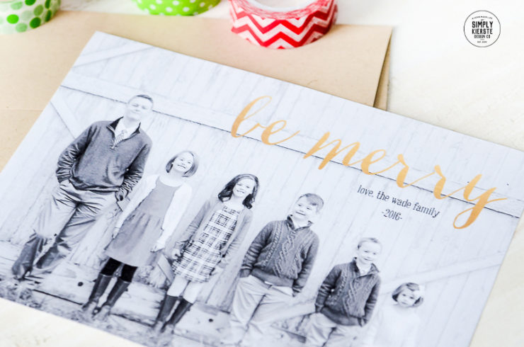How to make your own Christmas card in 10 minutes or less! | simply kierste.com