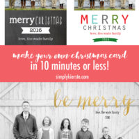 Make your own Christmas card in 10 Minutes + a GIVEAWAY!