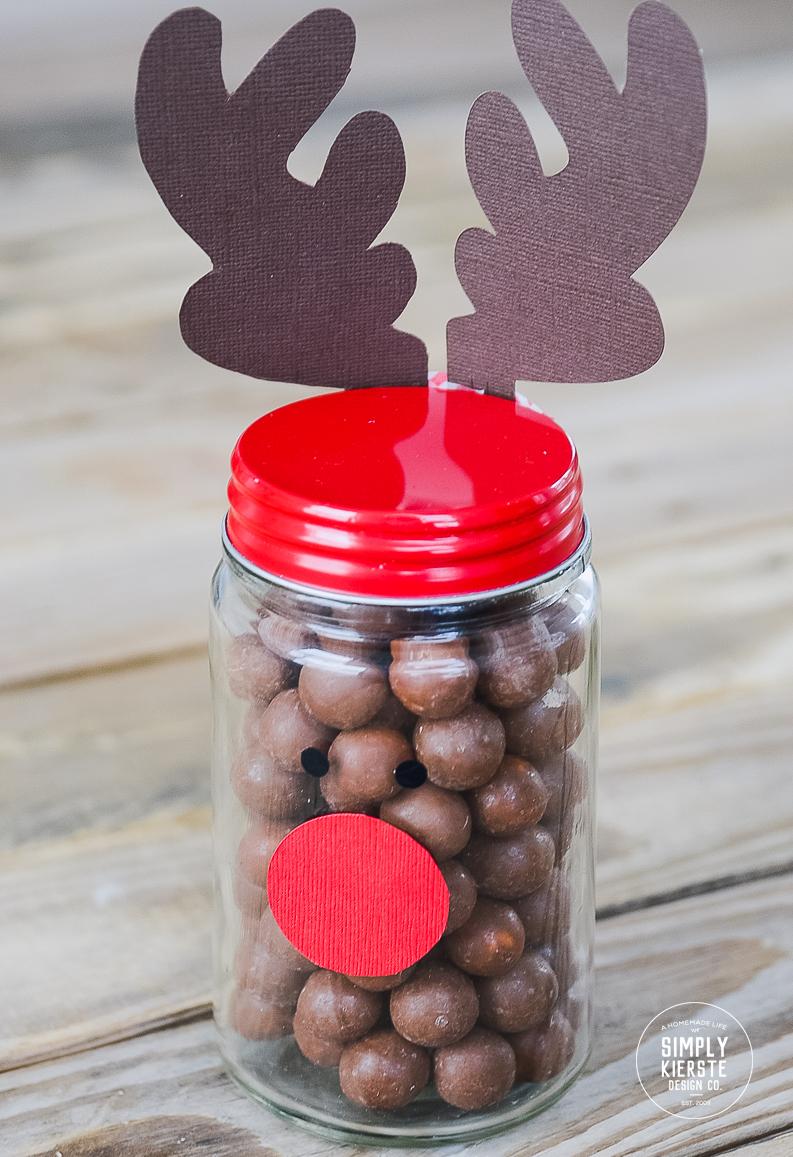 Easy Rudolph Gift Jar