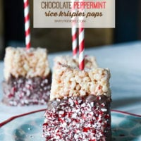 Chocolate Peppermint Rice Krispies Pops | simplykierste.com