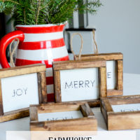 Farmhouse Wood Framed Christmas Ornaments