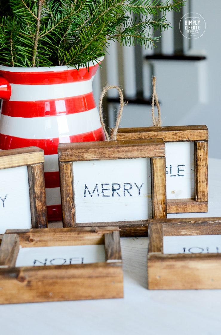 Farmhouse Wood Framed Christmas Ornaments | simply kierste.com
