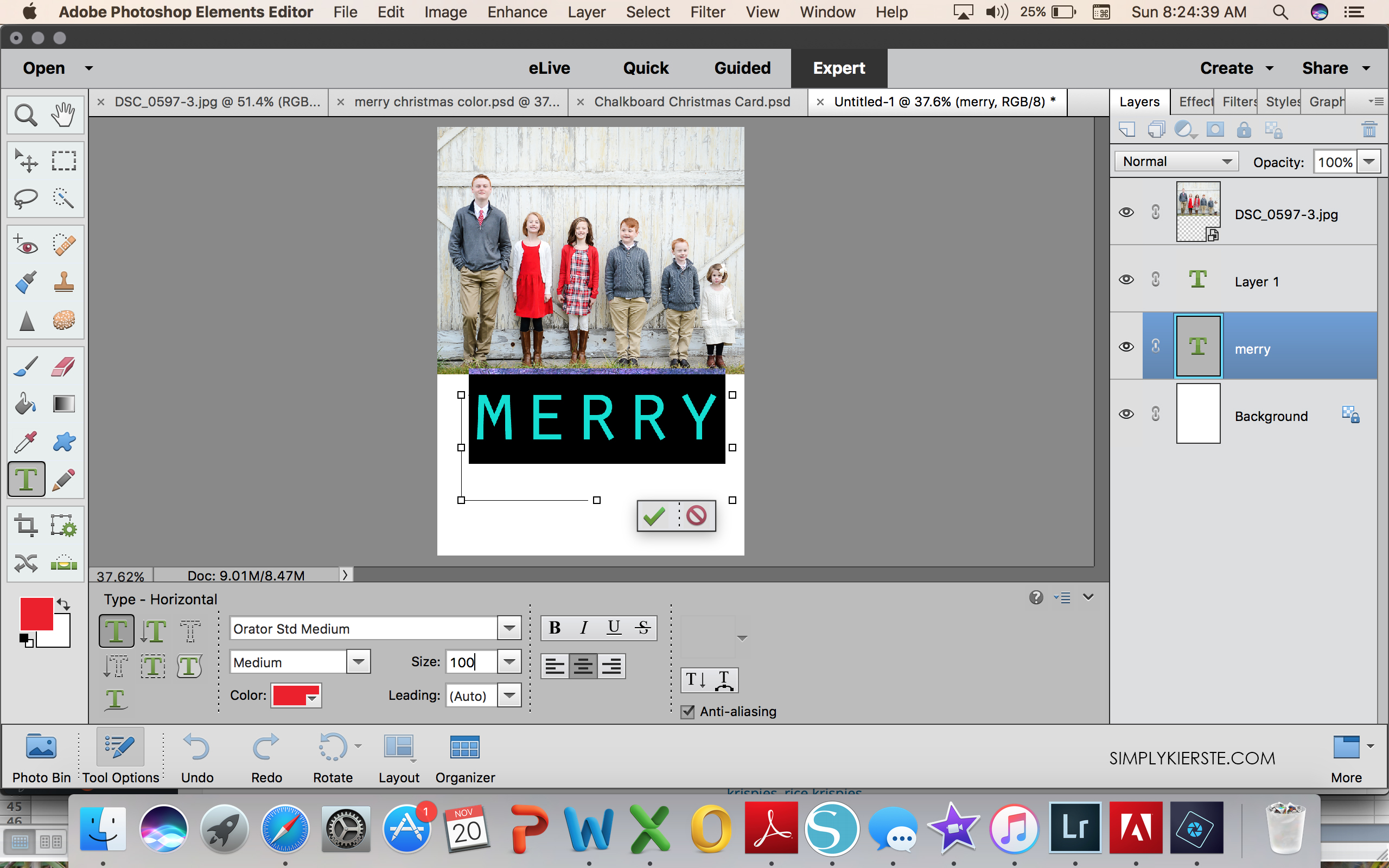 Make your own Christmas card in 10 Minutes! - Simply Kierste Design Co.