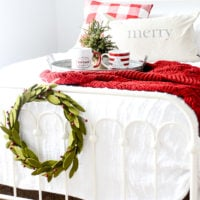 Cozy Farmhouse Holiday Guest Room | simply kierste.com