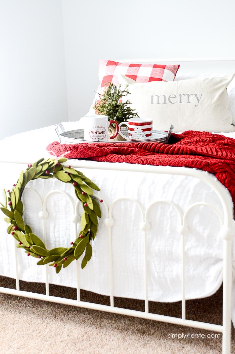 Cozy Farmhouse Holiday Guest Room | simply kierste.com