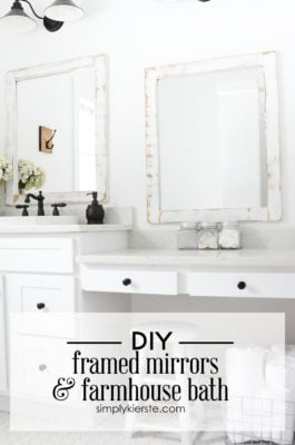 Diy giant chalkboard simply kierste design co - Farmhouse style bathroom mirrors ...