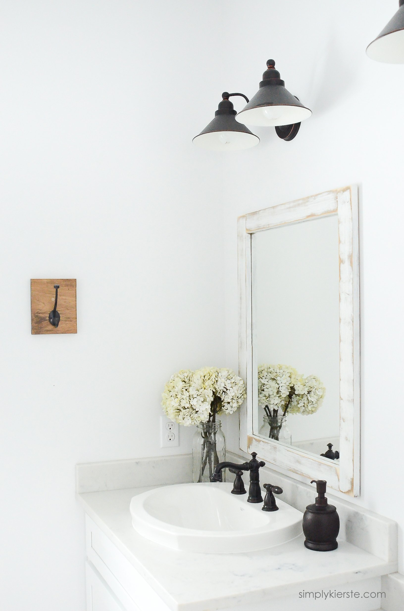 Cute Farmhouse Bathroom DIY Bathroom Mirrors simplykierste
