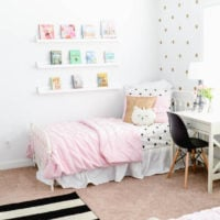 Pink & Gold Girls' Bedroom