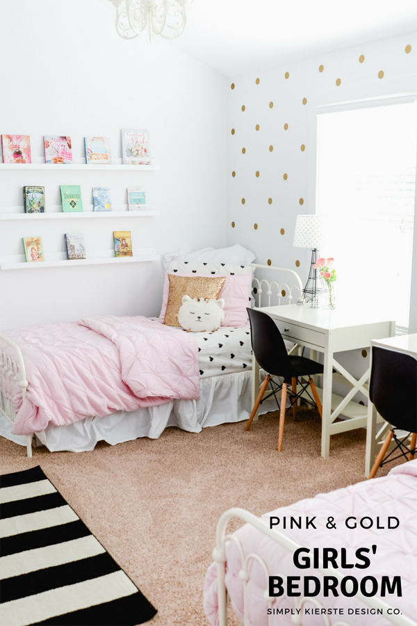 Pink & Gold Girls' Bedroom