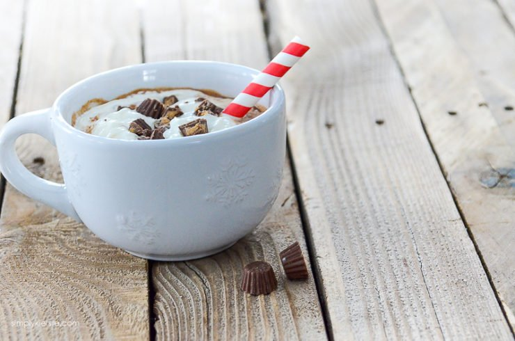Reese's Peanut Butter Hot Chocolate   simply kierste.com