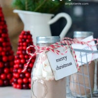 Hot Chocolate Gift Jars | simply kierste.com