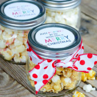 Easy Popcorn Christmas Gift Idea