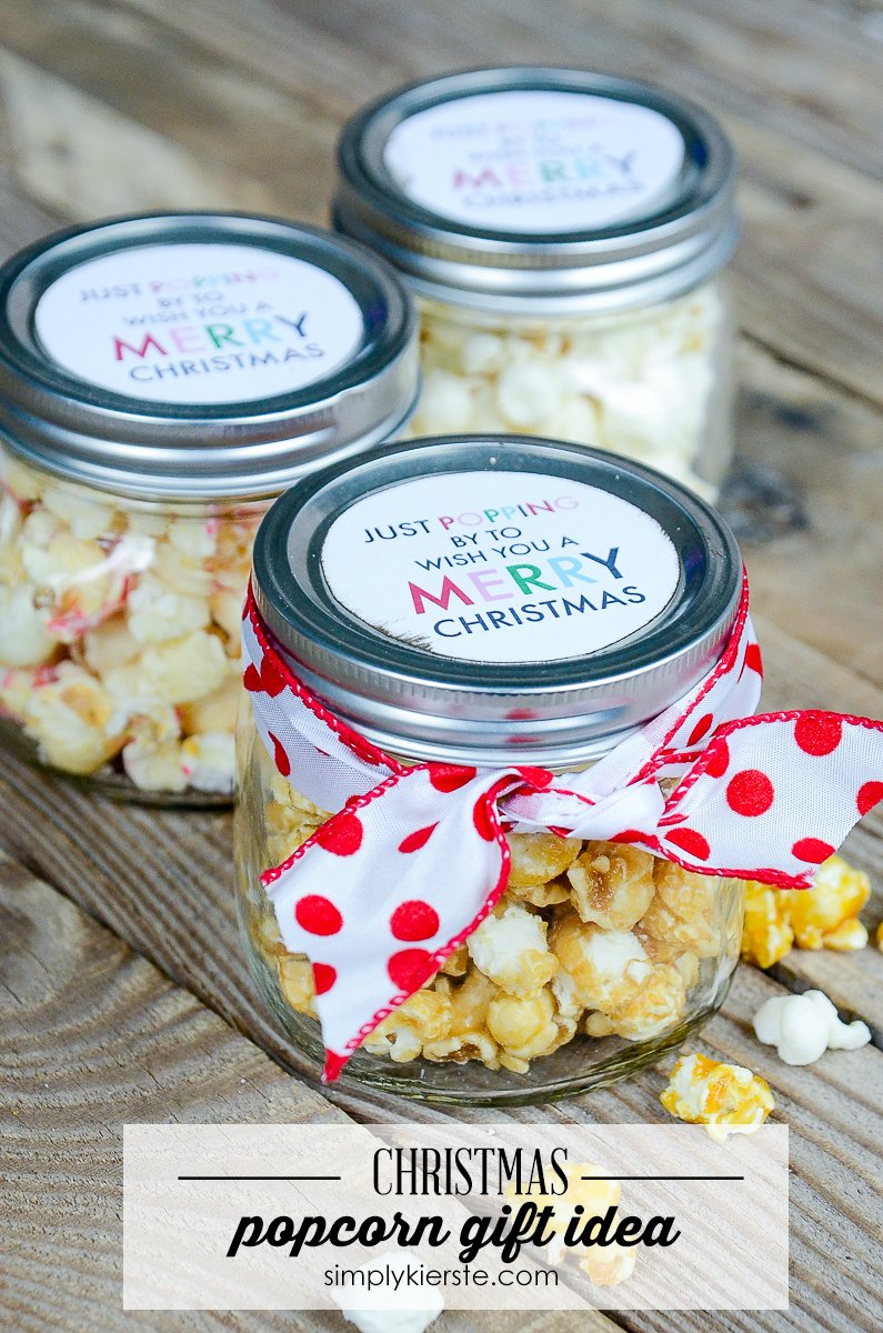 Easy Popcorn Christmas Gift Idea - Simply Kierste Design Co.