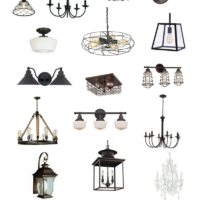 Farmhouse Lighting at Old Salt Farm + Source List