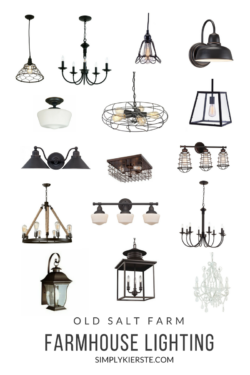 Farmhouse Lighting Old Salt Farm | simplykierste.com