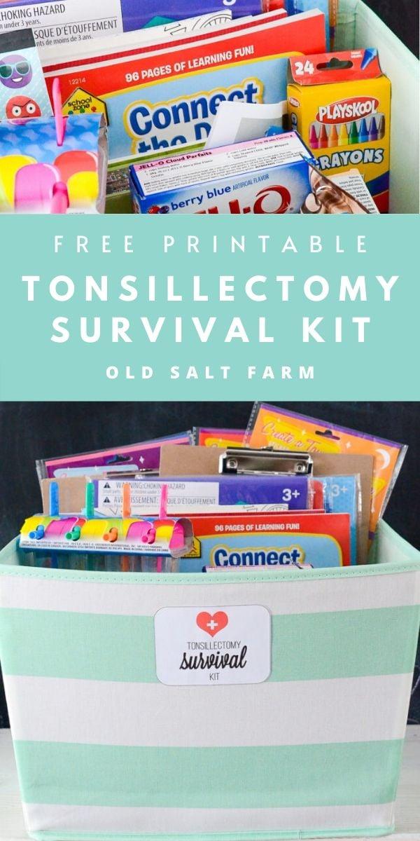 Tonsillectomy Survival Kit